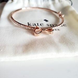 Kate Spade Rose Gold Bow Bangle Bracelet
